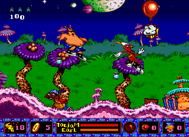 Скриншот из игры ToeJam & Earl in Panic on Funkotron