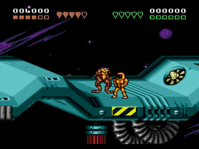 Скриншот из игры Battletoads And Double Dragon